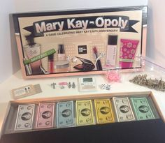 Mary Kay 50th Anniversary Mary Kay-Opoly Monopoly Game Opened Box