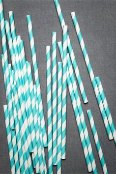 Spiral striped straws