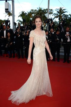 Alexandra Maria Lara in ELIE SAAB Haute Couture Fall 2011-12 at the 'On The Road' premiere in Cannes.