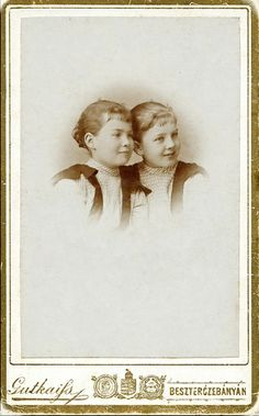 +~+~ Antique Photograph ~+~+ Sweet sisters ca. 1880 Hungary