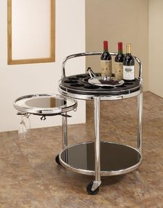 Special Offers - Coaster Home Furnishings Contemporary Serving Cart Chrome and Black - In stock & Free Shipping. You can save more money! Check It (April 18 2016 at 01:13AM) >> http://bathvanitiesusa.net/coaster-home-furnishings-contemporary-serving-cart-chrome-and-black/