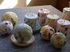 nuriさんが制作された和風キャンドル。 毬のようにも、花火玉のようにも見えるそのキャンドルはいったいどんな香りがするのでしょうか?