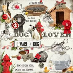 Dog Lover Side Clusters - $2.99 : Raspberry Road Designs