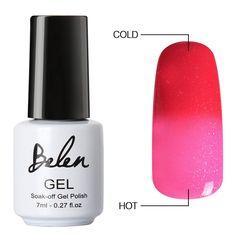 Belen Chameleon Thermal Colour Changing Gel Polish Soak Off Nail Art Varnish 5034 ** You can get additional details at the image link.