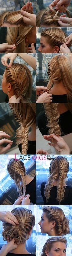 Fish tail french braid hair-styles... Could never do this but I love love love it!
