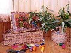 """Корзины, коробы ручной работы. Ярмарка Мастеров - ручная работа Набор """"Уютный летний день"""". Handmade."""