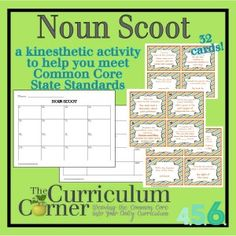Noun Scoot for Intermediate Grades Free from The Curriculum Corner | Great review of nouns and pronouns