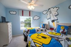 Imaginations soar in this LEGO-themed bedroom in 7713 Comrow St, just 3 miles from Disney