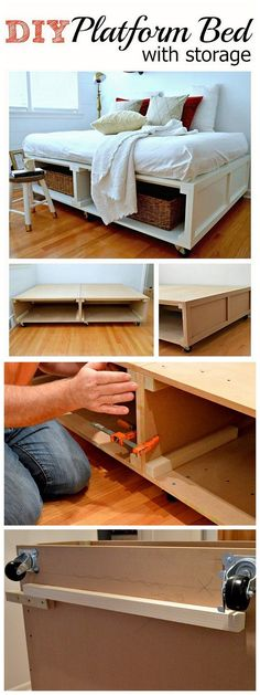 Check out the tutorial how to build a DIY platform bed with storage @istandarddesign
