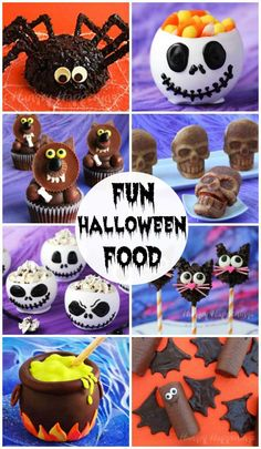 Find over 100 cute and creepy Halloween treats and snacks. Follow the Halloween recipes step-by-step & video tutorials to recreate the most amazing Halloween cupcakes, cookies, rice krispie treats, chocolates, candies, appetizers, and more. Kids of all ages will go nuts over these fun Halloween food ideas .