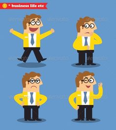 Office Emotions Poses #GraphicRiver Office emotions poses set vector illustration. Editable EPS and Render in JPG format Created: 10 December 13 Graphics Files Included: JPG Image #Vector EPS Layered: No Minimum Adobe CS Version: CS Tags adult #business #businessman #cartoon #character #collage #comical #different #emotion #emotional #emotions poses #emotions set #expression #face #facial #flat #happy #human #infographics #man #office #office people #people #person #poses #presentation…