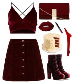 """""""C-ut-ti-g edge style"""" by clea69 ❤ liked on Polyvore featuring Jimmy Choo, Dorothy Perkins, Lime Crime, We Take the Cake and NARS Cosmetics"""