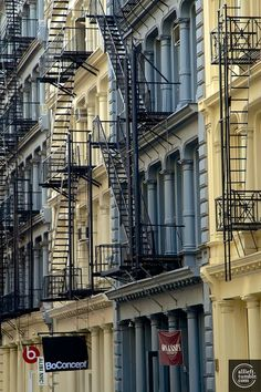 New York Fire Escapes - Green Street