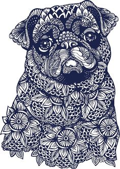 Mandala of #pug by Huebucket