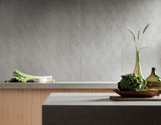 Prima Materia - Kronos Ceramiche - Floor coverings in porcelain stoneware. Stoneware, Concrete, Glass Vase, Indoor, Flooring, Interior Design, Home Decor, Inspiration, Cement