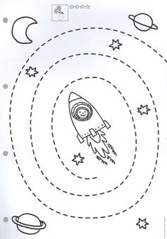 Preschool Counting Worksheets - Space theme for Preschool Space Theme Preschool, Preschool Centers, Space Activities, Preschool Learning Activities, Kids Learning, Cutting Activities, Free Preschool, Tracing Worksheets, Kindergarten Worksheets