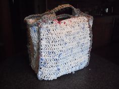 Plarn bag.  Made out of 100 Walmart bags.