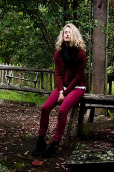 Burgundy. A color you'll be seeing a lot this fall #fall2012trends
