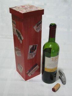 Caixa de vinho com decoupage – Para agradar pessoas de gosto mais refinado, sem estourar o orçamento