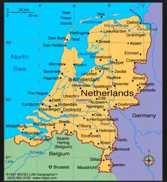 travel maps of amsterdam and netherlands holland