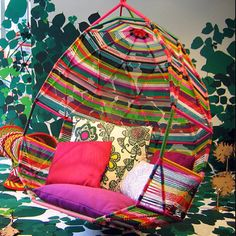 For outdoor space. Design-Patio-Decorations-ideas-of-Colorful-Outdoor-Canopy-Swing-Design- Design Patio, Swing Design, Canopy Design, Chair Design, Canopy Swing, Canopy Outdoor, Outdoor Decor, Swing Seat, Outdoor Beds