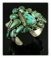 Gem Pilot Mountain Turquoise Cluster Bracelet