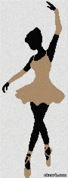point de croix danseuse - cross stitch dancer