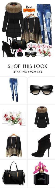 """""""Simple Dress 26"""" by velida-husic ❤ liked on Polyvore featuring Giuseppe Zanotti, MML, Marc Jacobs and simpledress"""