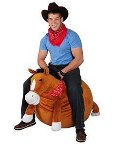 Mr Jones: Adult Size Plush Horse Hop Ball Hopper, 2015 Amazon Top Rated Pogo Sticks & Hoppers #Toy