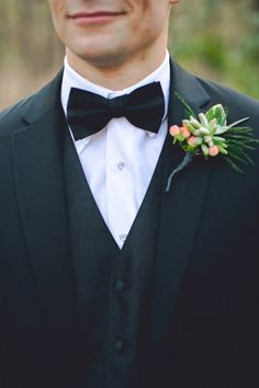 boutineers   formal groom + succulent boutonniere // photo by Geoff Duncan