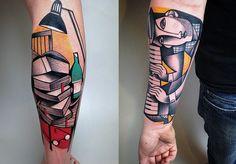 Tatuagens cubistas incríveis de Peter Aurisch