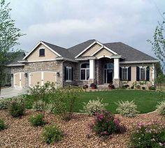 Plan W89371AH: European, Sloping Lot House Plans & Home Designs