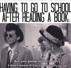 This happens to me after every book I read...