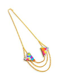 The Triangle Colors Geometric Necklace by JewelMint.com, $48.00