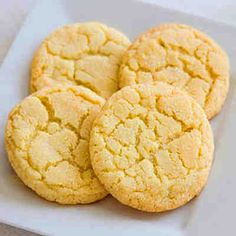 Lemon Cake Cookies (AIP-Friendly, Dairy-Free, 133 mg sodium/cookie) Lemon Cake Cookies, Paleo Cookies, Easy Sugar Cookies, Vanilla Cookies, Sugar Cookies Recipe, Paleo Sweets, Paleo Dessert, Cookie Recipes Without Butter, Sugar Cookie Recipe Without Vanilla Extract