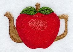 Apple Teapot design (A4663) from www.Emblibrary.com