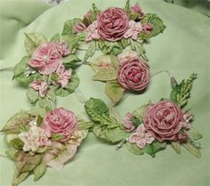 Collection of French Ribbonwork by Lambs and Ivy Designs