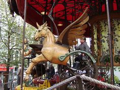 Pegasus ~ Merry-Go-Round carousel, Brussels Christmas Markets 2009 by Rob Lightbody, via Flickr