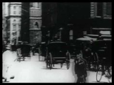 New York City Street Scene Easter 1900  everybody is wearing a hat ^_^
