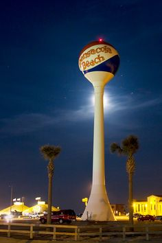 Image detail for -The Pensacola Beach Ball at night, full moon behind. - hjpurcell's ...
