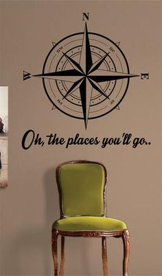 Compass The latest in home decorating. Beautiful wall vinyl decals, that are simple to apply, are a great accent piece for any room, come in an array of colors, and are a cheap alternative to a custom