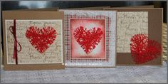 sydän langasta Christmas Cards, Xmas, Tin, Arts And Crafts, Frame, Gifts, Kissa, Card Ideas, Malli