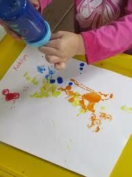 painting with a baby bottle