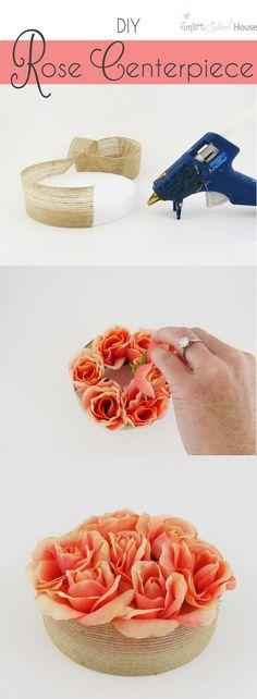 Decora tus mesas con un centro de rosas / http://www.smartschoolhouse.com