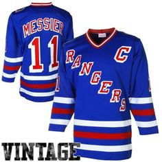 Mens New York Rangers Mark Messier Mitchell   Ness Royal Throwback  Authentic Vintage Jersey Nhl Store f141f3e64