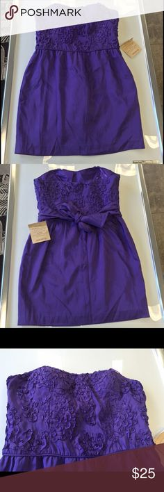 Arden b purple taffeta strapless dress large XL Arden b purple taffeta strapless dress large 8 XL 10 new with tags Arden B Dresses Strapless