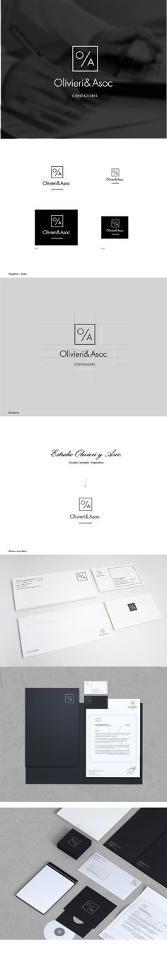 Olivieri & Asoc Branding by Lucía Izco, via Behance | #stationary #corporate #design #corporatedesign #identity #branding #marketing < repinned by www.BlickeDeeler.de | Take a look at www.LogoGestaltung-Hamburg.de
