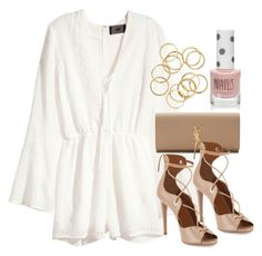 Style  #10518 by vany-alvarado on Polyvore featuring polyvore, fashion, style, H&M, Aquazzura, Yves Saint Laurent, Topshop and clothing