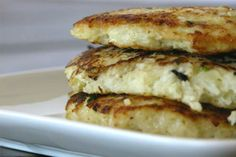 Notato Pancakes Recipe -   •1 large head of cauliflower, chopped and steamed   •1-2 tablespoons fresh chives, minced   •2 eggs   •1/2 teaspoons garlic powder   •salt and pepper to taste   •1-2 tablespoons coconut oil for frying