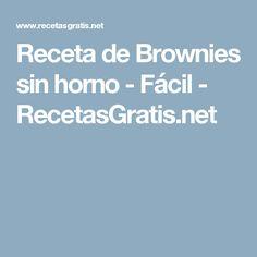 Receta de Brownies sin horno - Fácil - RecetasGratis.net